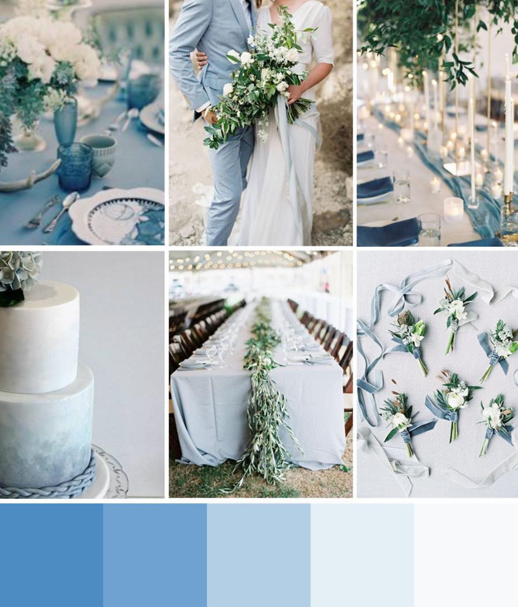 Serenity Blue palette